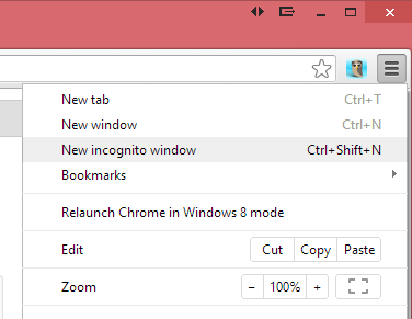 how to open an incognito window in chrome