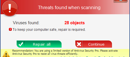 red scam warning box for threats